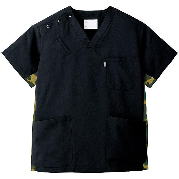 ミズノ ユナイト スクラブ(男女兼用) ブラック M MZ0053 医療白衣 1枚 (取寄品)
