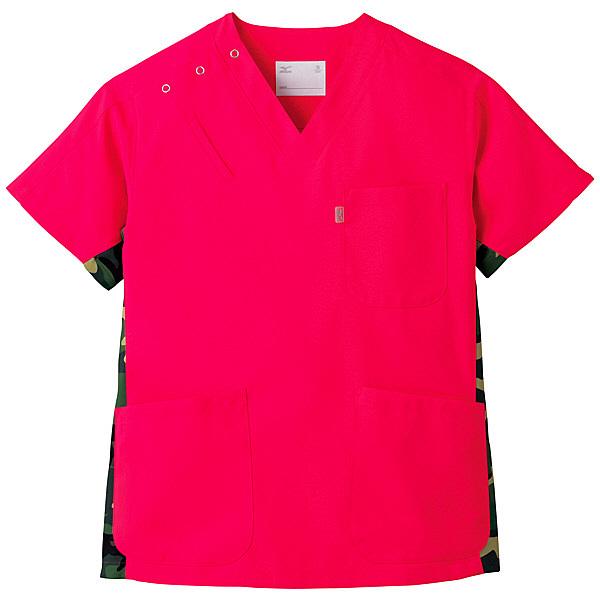 ミズノ ユナイト スクラブ(男女兼用) コーラルピンク M MZ0053 医療白衣 1枚 (取寄品)