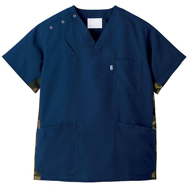 ミズノ ユナイト スクラブ(男女兼用) ネイビー LL MZ0053 医療白衣 1枚 (取寄品)