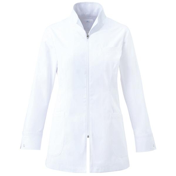 ミズノ ユナイト ハーフコート(女性用) ホワイト LL MZ0055 医療白衣 診察衣 薬局衣 1枚 (取寄品)