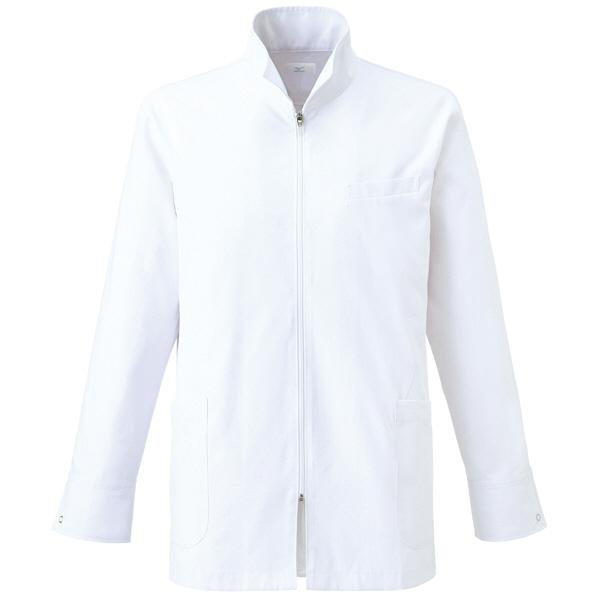 ミズノ ユナイト ハーフコート(男性用) ホワイト S MZ0056 医療白衣 診察衣 薬局衣 1枚 (取寄品)