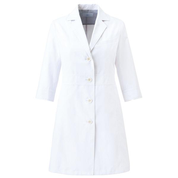 ミズノ ユナイト ドクターコート(七分袖)(女性用) ホワイト LL MZ0057 医療白衣 診察衣 薬局衣 1枚 (取寄品)