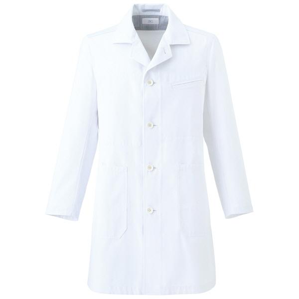 ミズノ ユナイト ドクターコート(男性用) ホワイト M MZ0058 医療白衣 診察衣 薬局衣 1枚 (取寄品)