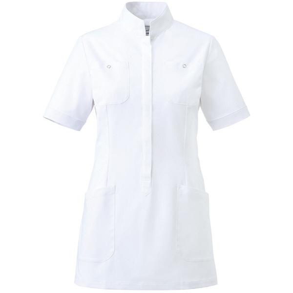 ミズノ ユナイト ジャケット(女性用) ホワイト L MZ0062 医療白衣 ナースジャケット 1枚 (取寄品)