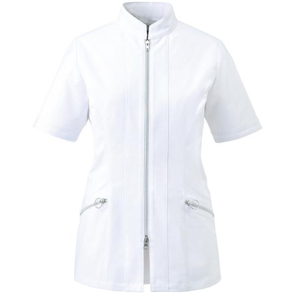 ミズノ ユナイト ジャケット(女性用) ホワイト S MZ0063 医療白衣 ナースジャケット 1枚 (取寄品)