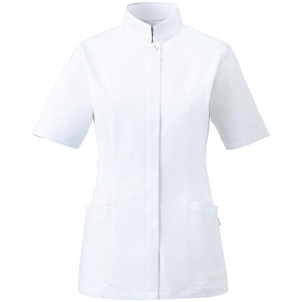 ミズノ ユナイト ジャケット(女性用) ホワイト L MZ0064 医療白衣 ナースジャケット 1枚 (取寄品)