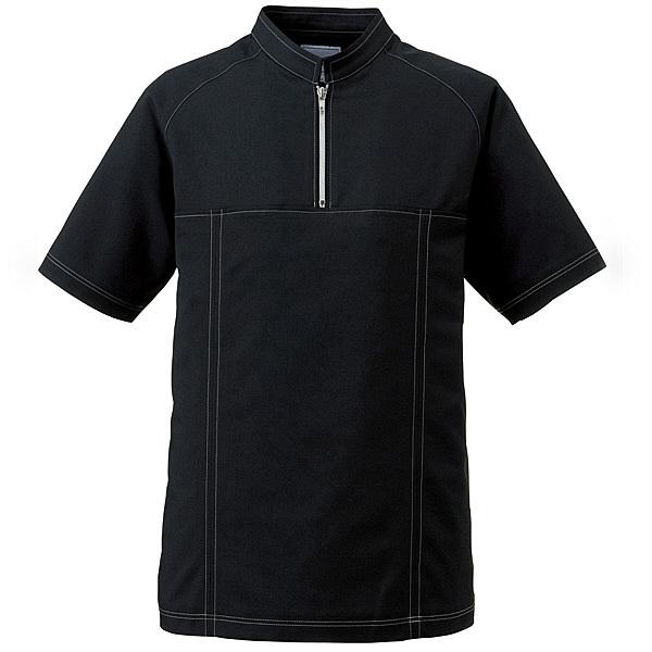 ミズノ ユナイト ジャケット(男性用) ブラック S MZ0065 医療白衣 1枚 (取寄品)