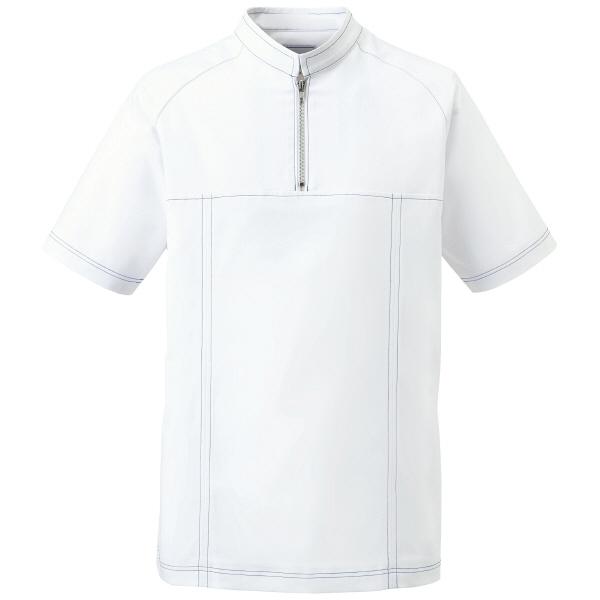 ミズノ ユナイト ジャケット(男性用) ホワイト S MZ0065 医療白衣 1枚 (取寄品)