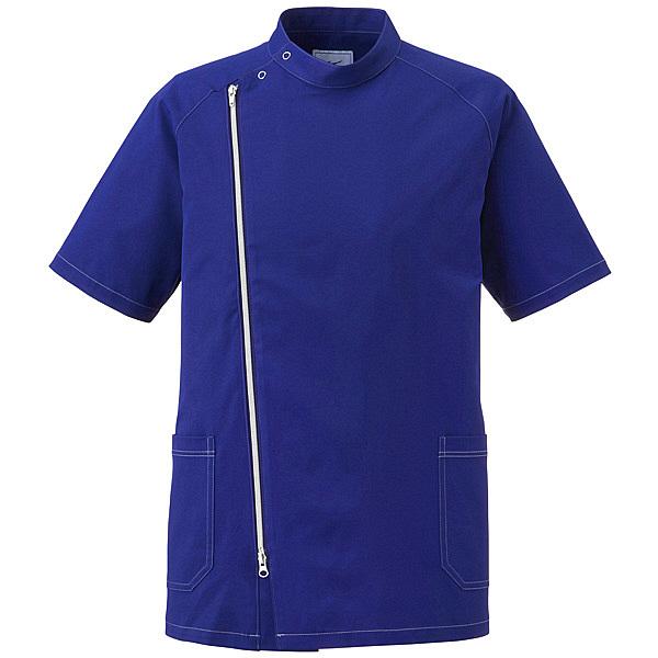 ミズノ ユナイト ジャケット(男性用) ネイビー×シルバー LL MZ0066 医療白衣 1枚 (取寄品)