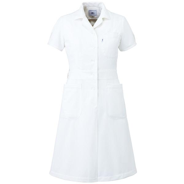 ミズノ ユナイト ワンピース(女性用) ホワイト LL MZ0067 医療白衣 ナースワンピース 1枚 (取寄品)