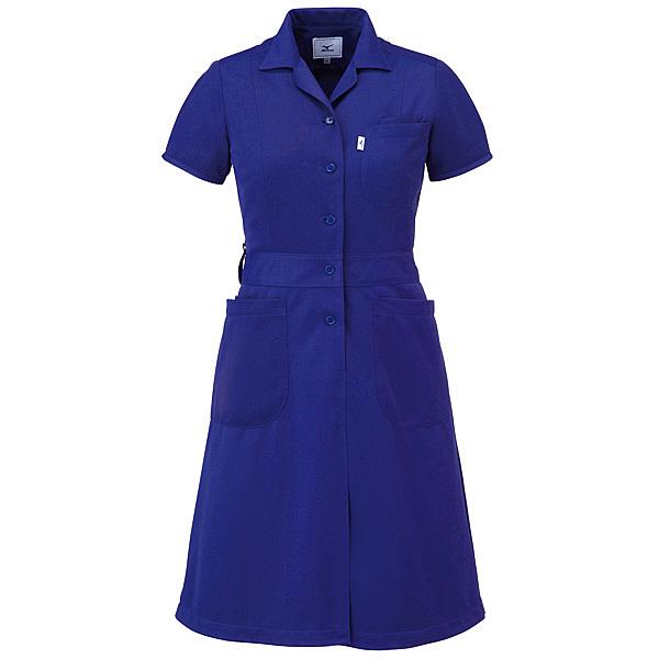 ミズノ ユナイト ワンピース(女性用) ネイビー L MZ0067 医療白衣 ナースワンピース 1枚 (取寄品)