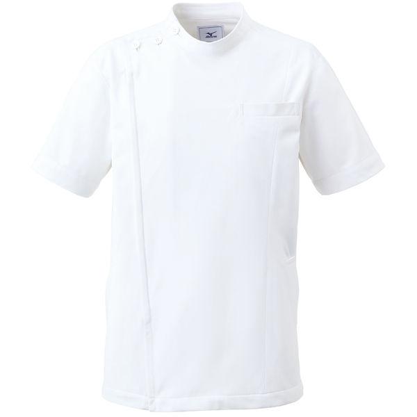 ミズノ ユナイト ケーシージャケット(男女兼用) ホワイト LL MZ0069 医療白衣 1枚 (取寄品)
