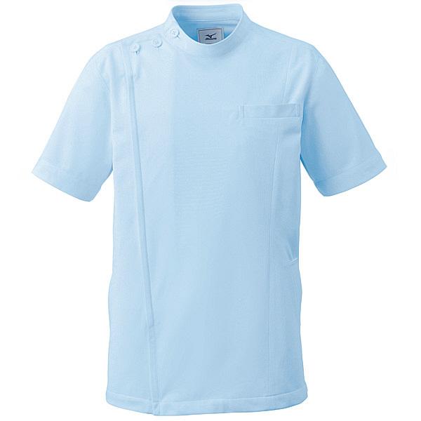 ミズノ ユナイト ケーシージャケット(男女兼用) サックス LL MZ0069 医療白衣 1枚 (取寄品)