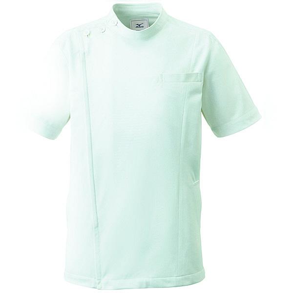 ミズノ ユナイト ケーシージャケット(男女兼用) ペイルグリーン LL MZ0069 医療白衣 1枚 (取寄品)