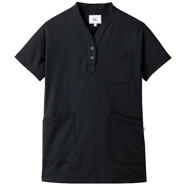 ミズノ ユナイト スクラブ(女性用) ブラック S MZ0075 医療白衣 レディススクラブ 1枚 (取寄品)
