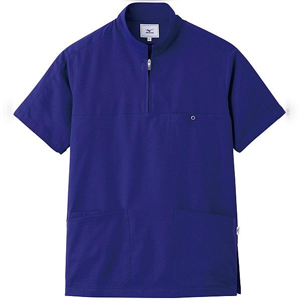 ミズノ ユナイト スクラブ(男性用) ネイビー L MZ0076 医療白衣 メンズスクラブ 1枚 (取寄品)