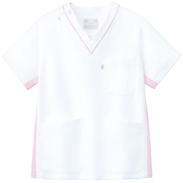 ミズノ ユナイト スクラブ(男女兼用) ピンク 3L MZ0083 医療白衣 1枚 (取寄品)