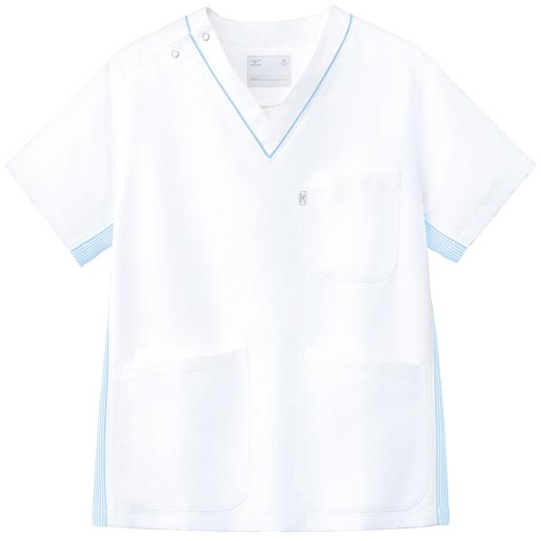 ミズノ ユナイト スクラブ(男女兼用) サックス L MZ0083 医療白衣 1枚 (取寄品)