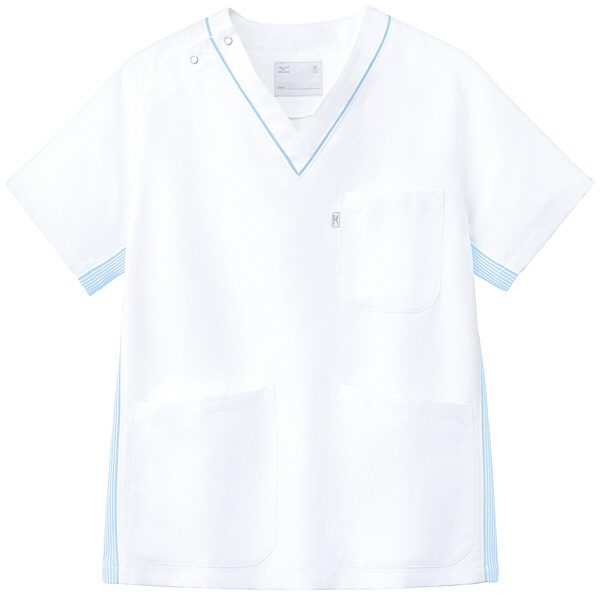 ミズノ ユナイト スクラブ(男女兼用) サックス M MZ0083 医療白衣 1枚 (取寄品)