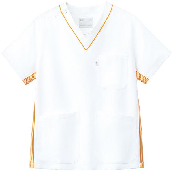 ミズノ ユナイト スクラブ(男女兼用) オレンジ L MZ0083 医療白衣 1枚 (取寄品)