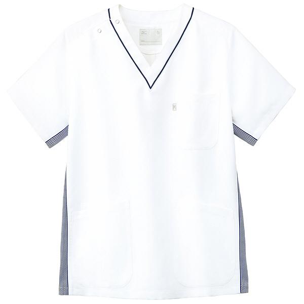 ミズノ ユナイト スクラブ(男女兼用) ネイビー L MZ0083 医療白衣 1枚 (取寄品)