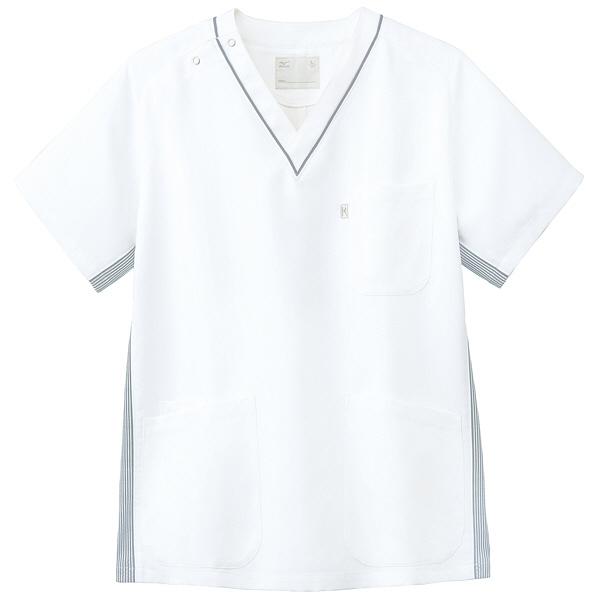 ミズノ ユナイト スクラブ(男女兼用) グレー L MZ0083 医療白衣 1枚 (取寄品)