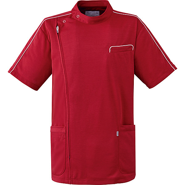 ミズノ ユナイト ケーシージャケット(男女兼用) ワイン S MZ0094 医療白衣 1枚 (取寄品)