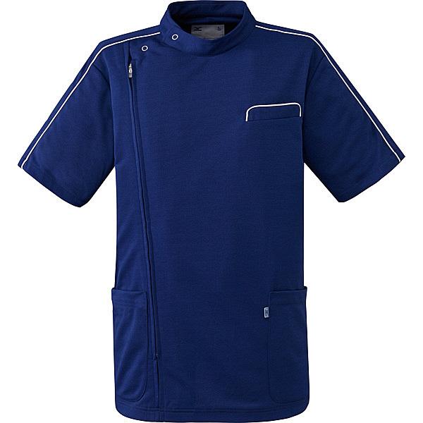 ミズノ ユナイト ケーシージャケット(男女兼用) ネイビー 5L MZ0094 医療白衣 1枚 (取寄品)