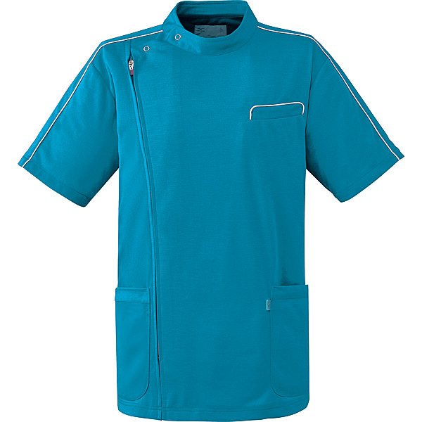 ミズノ ユナイト ケーシージャケット(男女兼用) ターコイズ 4L MZ0094 医療白衣 1枚 (取寄品)