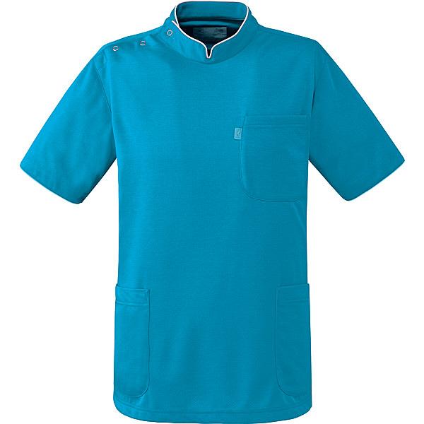 ミズノ ユナイト ケーシージャケット(男女兼用) ターコイズ LL MZ0096 医療白衣 1枚 (取寄品)