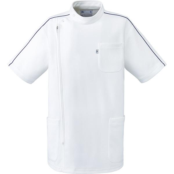 ミズノ ユナイト ケーシージャケット(男女兼用) ホワイト LL MZ0097 医療白衣 1枚 (取寄品)