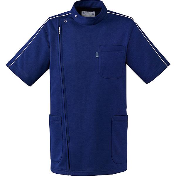ミズノ ユナイト ケーシージャケット(男女兼用) ネイビー L MZ0097 医療白衣 1枚 (取寄品)