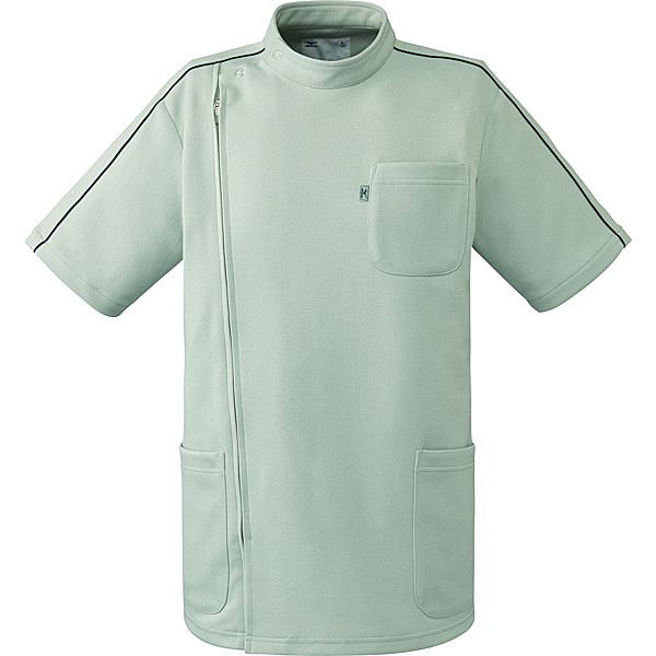 ミズノ ユナイト ケーシージャケット(男女兼用) グレー S MZ0097 医療白衣 1枚 (取寄品)