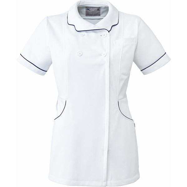ミズノ ユナイト ジャケット(女性用) ホワイト L MZ0098 医療白衣 ナースジャケット 1枚 (取寄品)