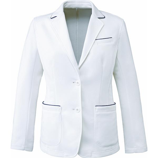 ミズノ ユナイト ジャケット(女性用) ホワイト LL MZ0101 医療白衣 ナースジャケット 1枚 (取寄品)