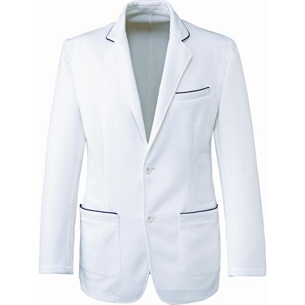 ミズノ ユナイト ジャケット(男性用) ホワイト S MZ0102 医療白衣 1枚 (取寄品)