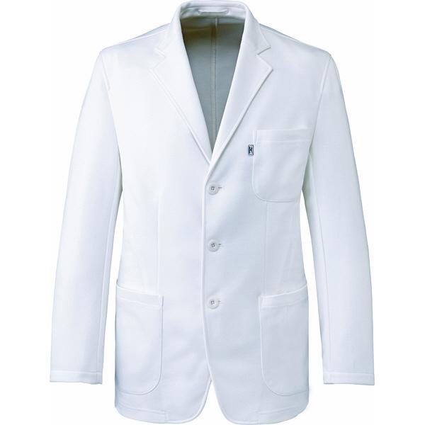 ミズノ ユナイト ジャケット(男性用) ホワイト 3L MZ0104 医療白衣 1枚 (取寄品)