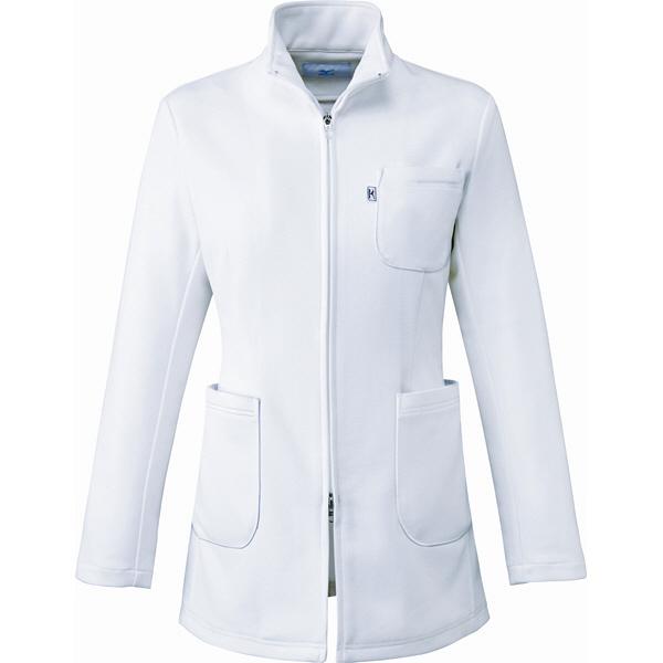 ミズノ ユナイト ハーフコート(女性用) ホワイト LL MZ0105 医療白衣 診察衣 薬局衣 1枚 (取寄品)