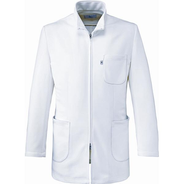 ミズノ ユナイト ハーフコート(男性用) ホワイト LL MZ0106 医療白衣 診察衣 薬局衣 1枚 (取寄品)