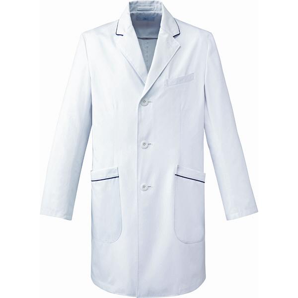 ミズノ ユナイト ドクターコート(男性用) ホワイト S MZ0108 医療白衣 診察衣 薬局衣 1枚 (取寄品)