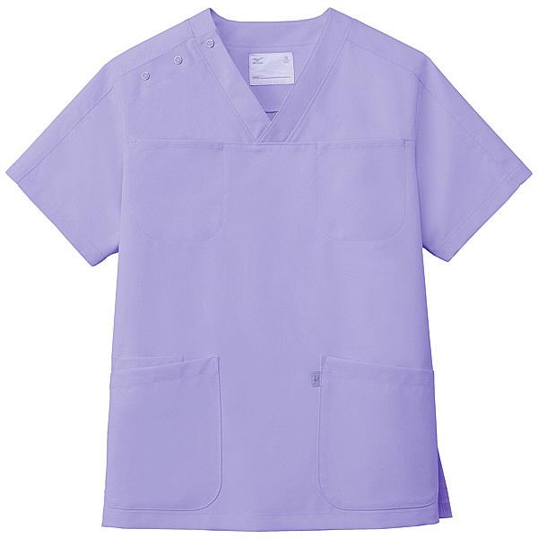 ミズノ ユナイト スクラブ(男女兼用) ラベンダー L MZ0051 医療白衣 1枚 (取寄品)