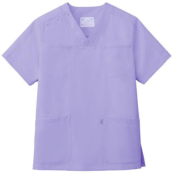 ミズノ ユナイト スクラブ(男女兼用) ラベンダー M MZ0051 医療白衣 1枚 (取寄品)