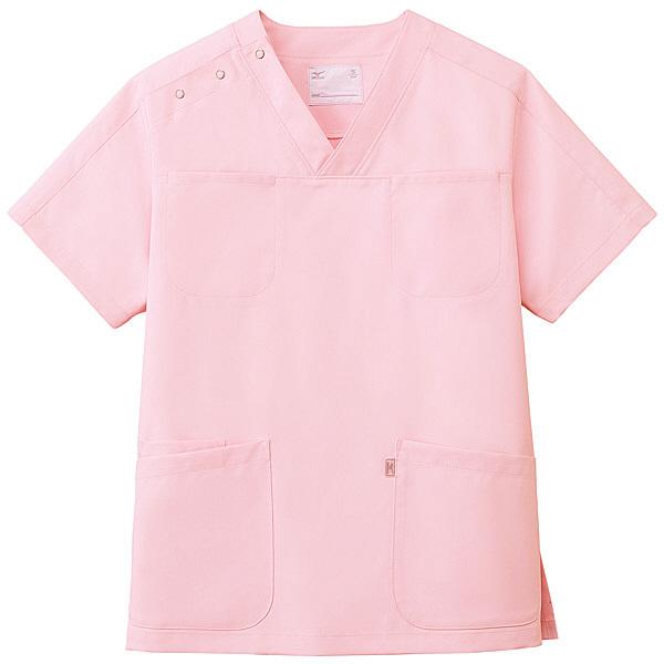 ミズノ ユナイト スクラブ(男女兼用) ピンク S MZ0051 医療白衣 1枚 (取寄品)