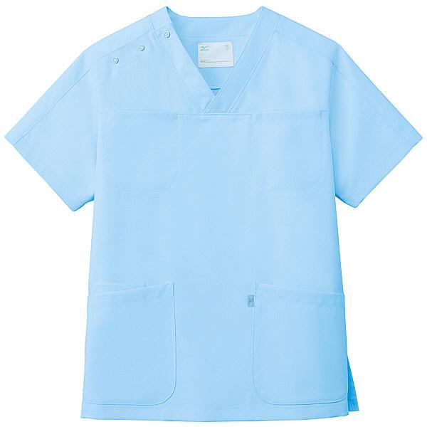 ミズノ ユナイト スクラブ(男女兼用) サックス M MZ0051 医療白衣 1枚 (取寄品)