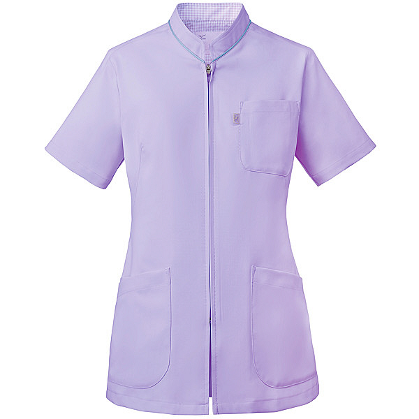 ミズノ ユナイト スクラブ(女性用) ラベンダー LL MZ0086 医療白衣 レディススクラブ 1枚 (取寄品)