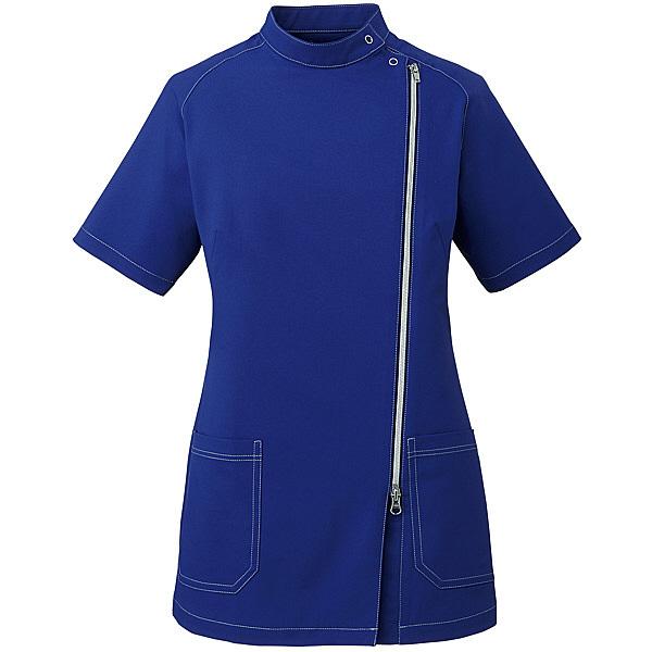 ミズノ ユナイト ジャケット(女性用) ネイビー×シルバー L MZ0089 医療白衣 ナースジャケット 1枚 (取寄品)