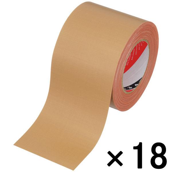 オリーブテープ No.141 0.37mm厚 100mm×25m巻 茶 1箱(18巻入) 寺岡製作所