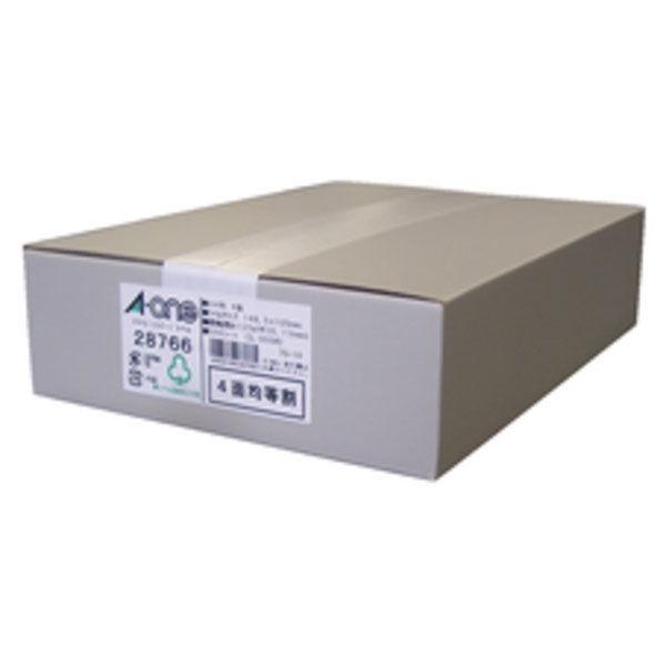 【大容量】 エーワン PPCラベルシール 表示・宛名ラベル コピー用 マット紙 白 A4 4面 1箱(500シート入) 28766(取寄品)