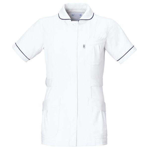 ミズノ ユナイト ジャケット(女性用) ホワイト L MZ0009 医療白衣 ナースジャケット 1枚 (取寄品)
