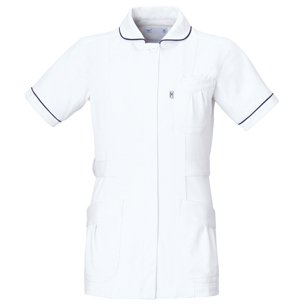 ミズノ ユナイト ジャケット(女性用) ホワイト LL MZ0009 医療白衣 ナースジャケット 1枚 (取寄品)